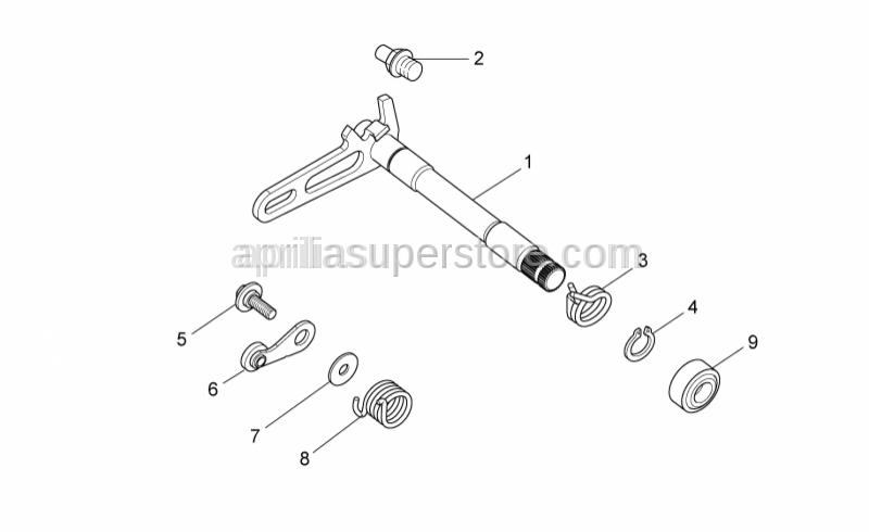 Aprilia - Selector shaft cpl.