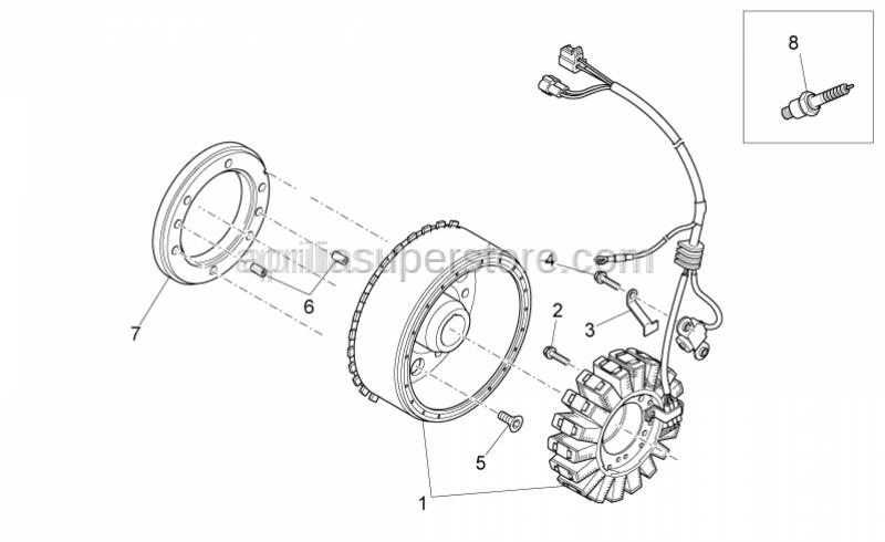 Aprilia - Flywheel cpl.
