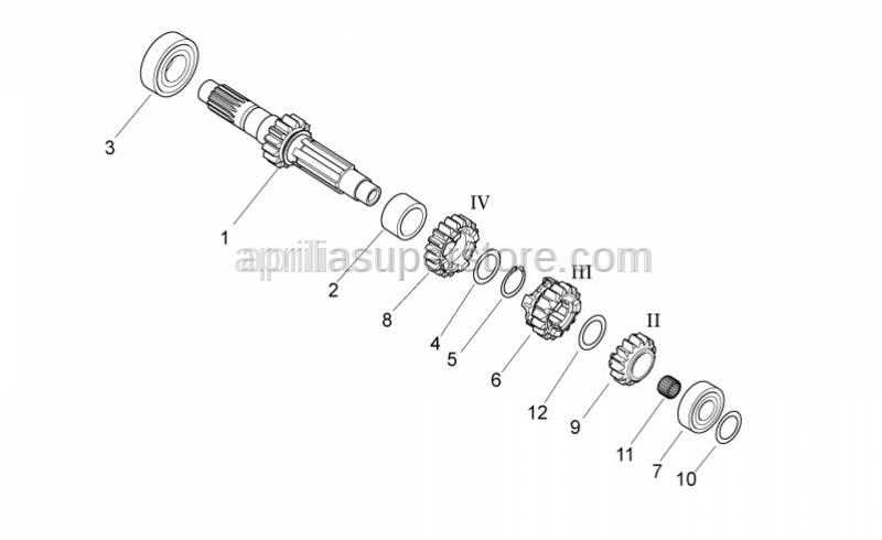 Aprilia - Roller cage d20-D24-SP.17