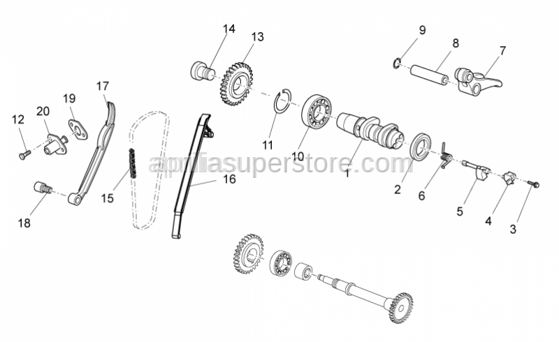 Aprilia - Timing gear Z=21