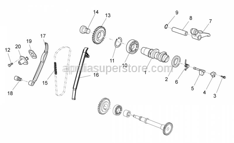 Aprilia - Chain tensioner sliding block