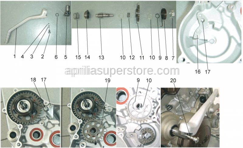 Aprilia - Screw w/ flange M6x12