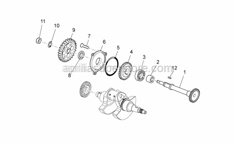 Aprilia - Ball bearing D12x28x8