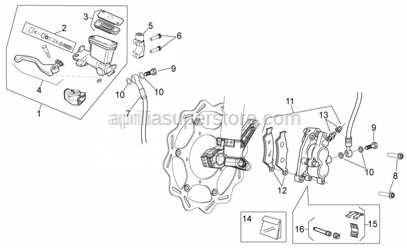 Aprilia - Hex screw M10x1,25