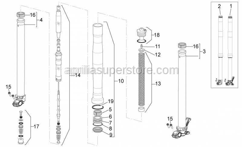 Aprilia - Spring kit + Pipe