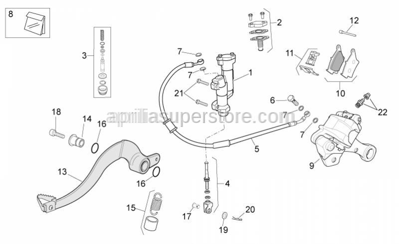 Aprilia - Plug revision kit
