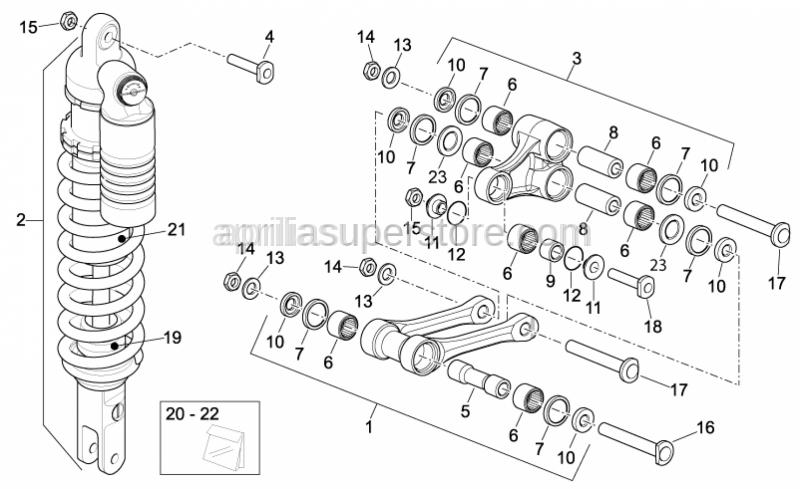 Aprilia - Screw M10x1,25 L=44