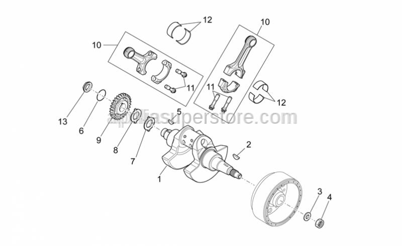 Aprilia - Nut M14x1