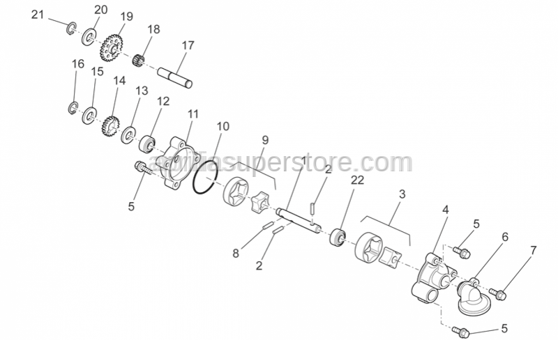 Aprilia - Oil pump gear Z=12