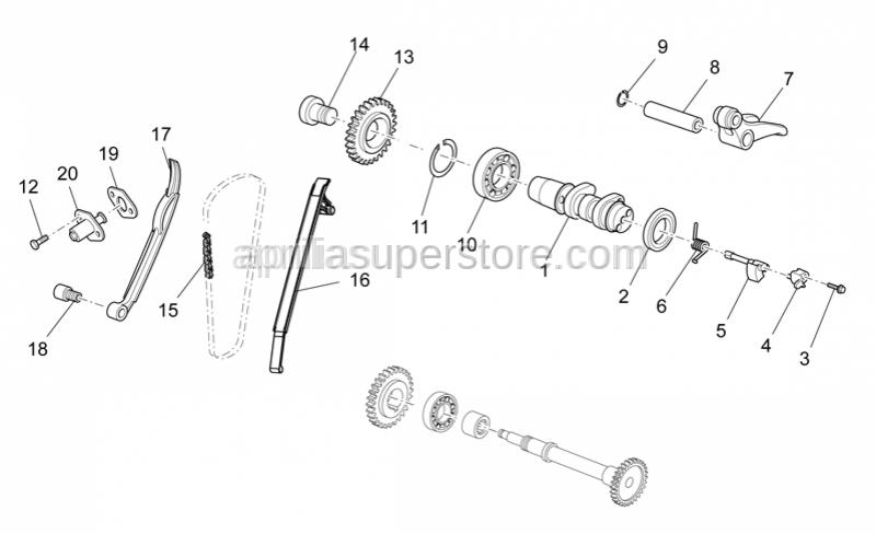 Aprilia - Chain guide plate L186