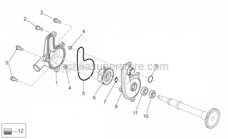 Aprilia - Oil seal D10x18x5/8