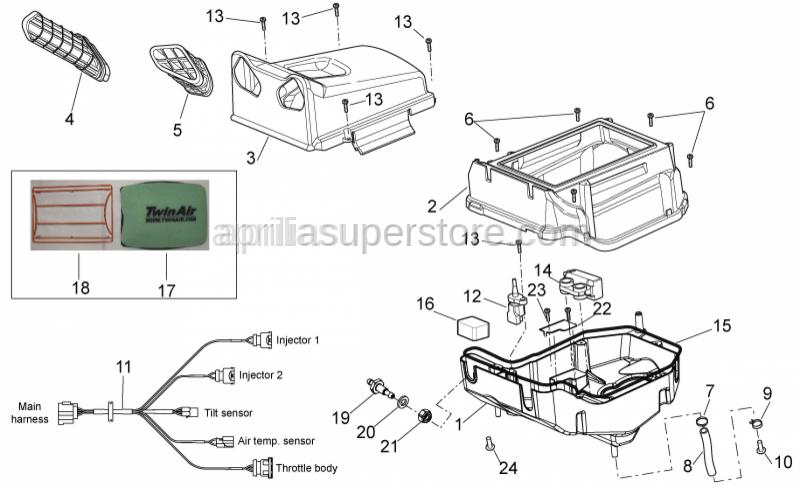 Aprilia - Filter box