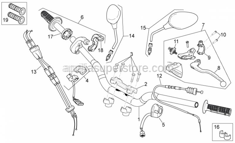 Aprilia - Progressive Throttle pipe