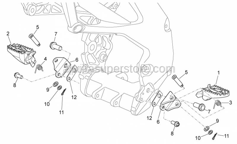 Aprilia - screw M12x1,25
