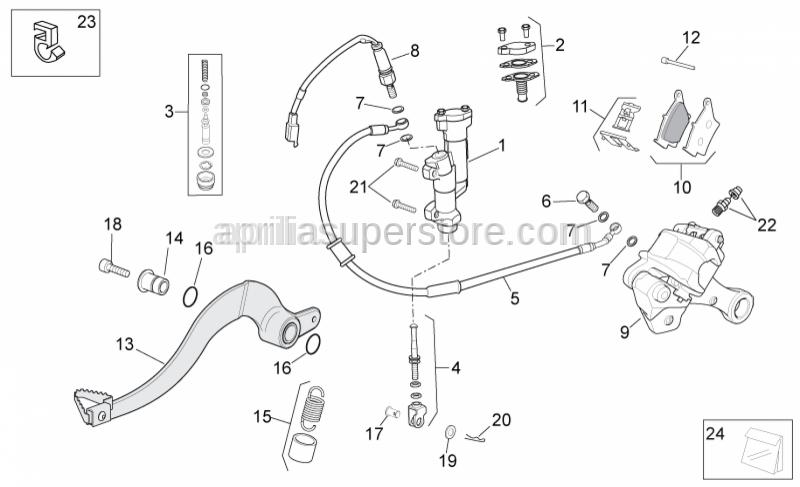 Aprilia - Rear master cylinder