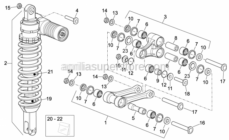 Aprilia - screw M10x1,25 L=53