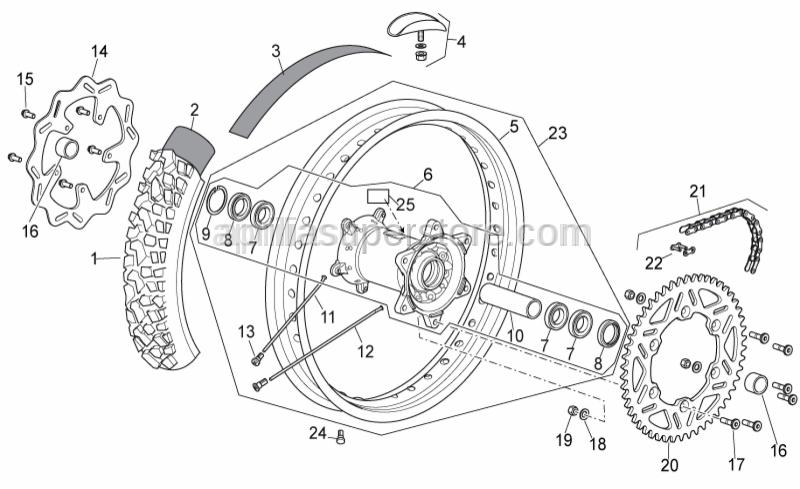 Aprilia - Gasket ring 32x42x7