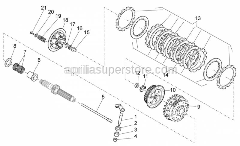 Aprilia - Roller cage D12x26x2