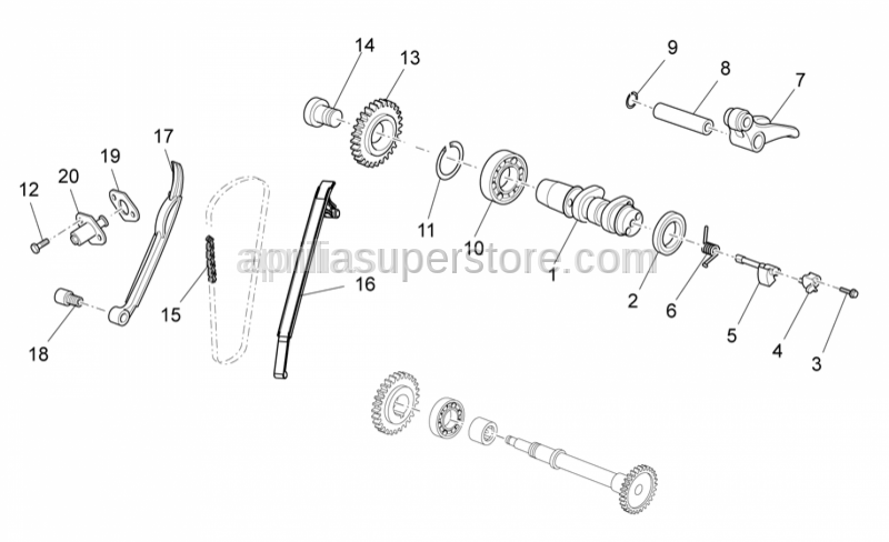 Aprilia - Rocker arm exhaust