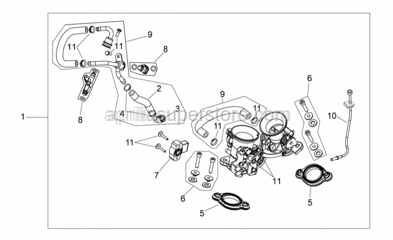 Aprilia - Screw kit, clamps, clip
