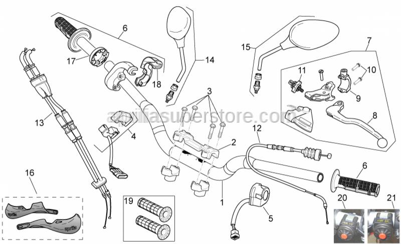 Aprilia - Button engine stop