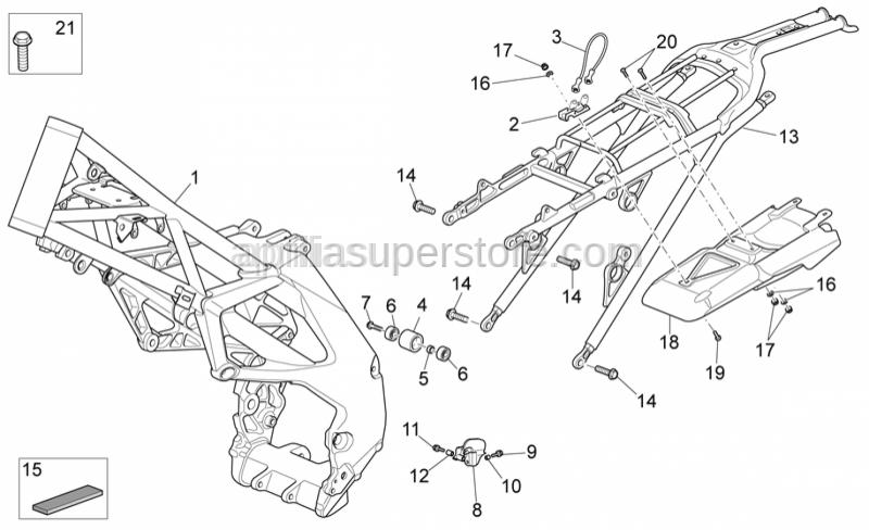 Aprilia - Hex socket screw M4x10 inox