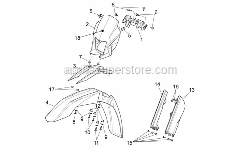 Aprilia - Screw complete M6x1