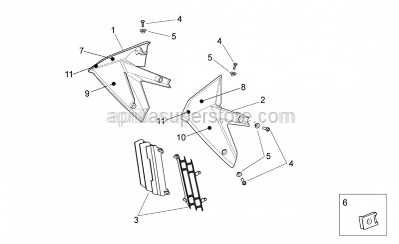 Aprilia - Screw w/ flange M6x16 titan
