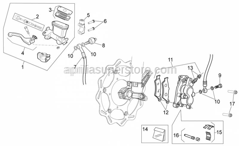 Aprilia - Lever overhaul kit