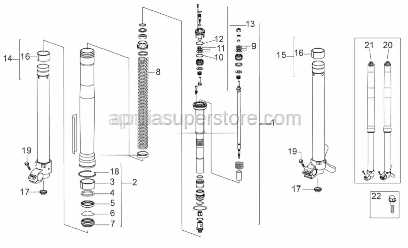 Aprilia - Spacer 21x8,1x0,15