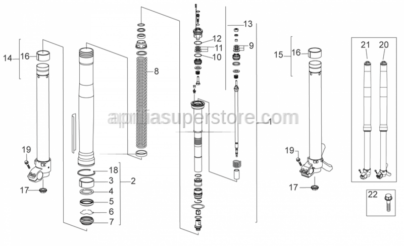 Aprilia - Spacer 14x8,1x0,1