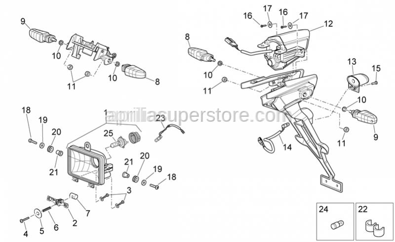 Aprilia - Headlight adjuster rod