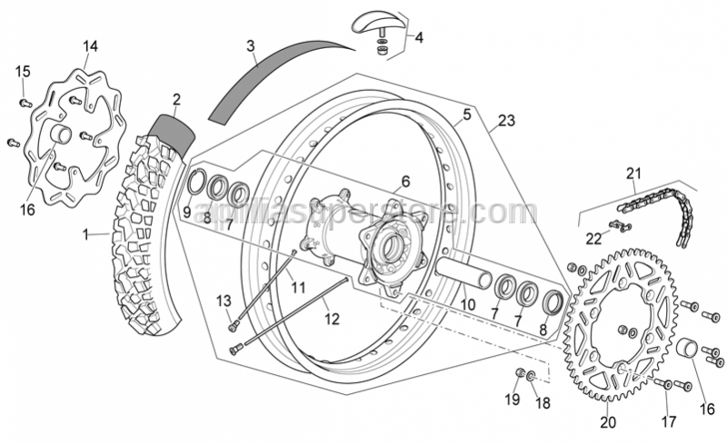 Aprilia - Rear wheel flap 18
