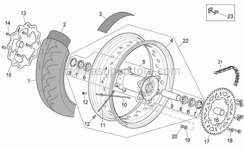 Aprilia - Internal spacer L=134,3