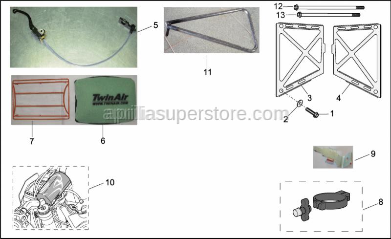 Aprilia - SCREW M6X128