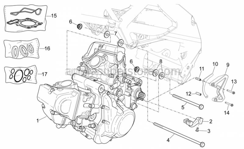 Aprilia - screw M10x1,25 L=202