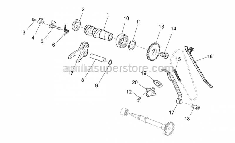 Aprilia - Front camshaft, RXV Enduro 450/550