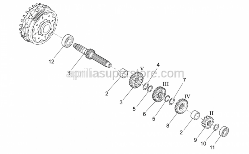 Aprilia - Primary gear shaft Z=12