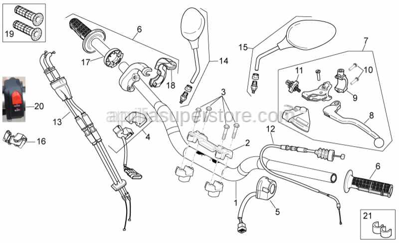 Aprilia - Gas lever transmission