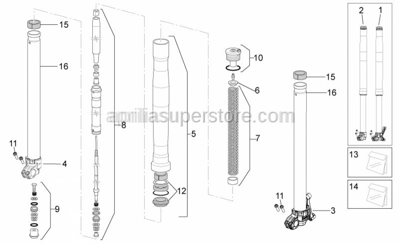 Aprilia - Bushes kit