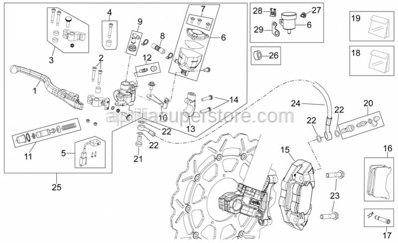 Aprilia - Brake pistons, pair