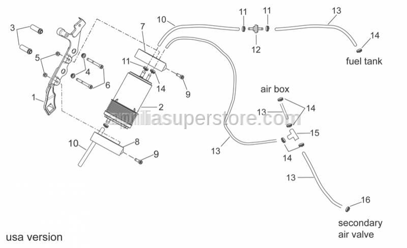Aprilia - pipe SAE 30 d.12,7x6,35