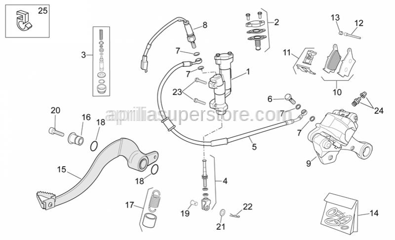 Aprilia - Hex socket screw M8x20