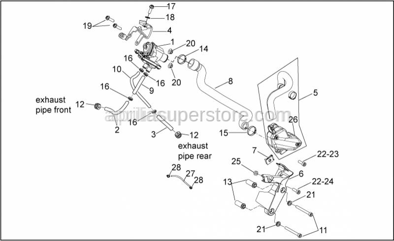 Aprilia - Self-locking nut M6x1