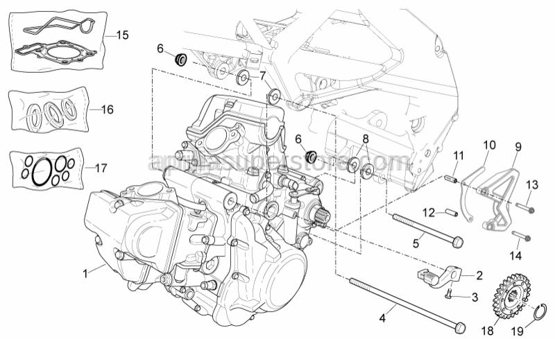 Aprilia - screw M10x1,25 L=102