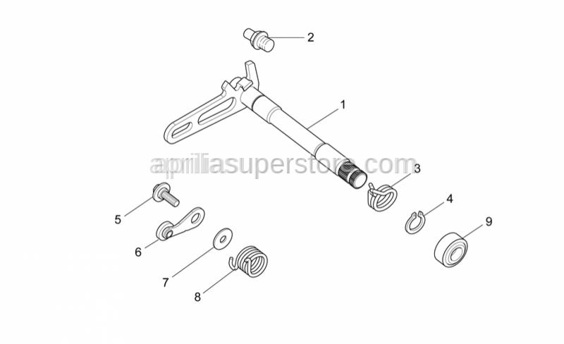 Aprilia - Selector lock
