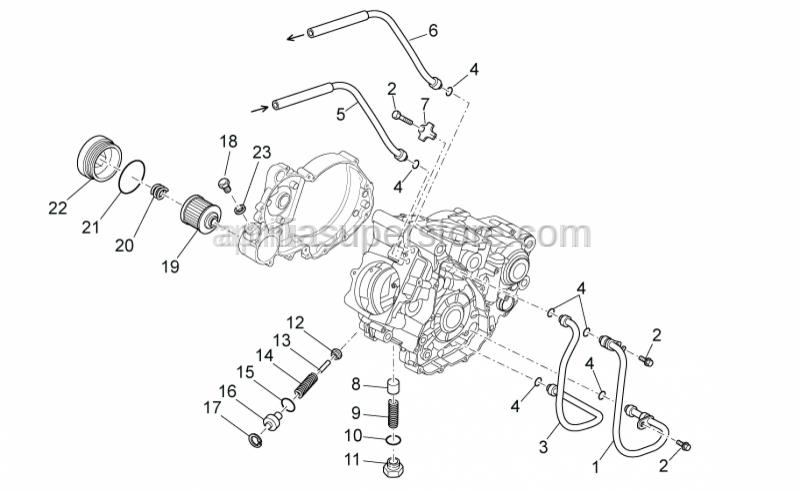 Aprilia - Lock plate