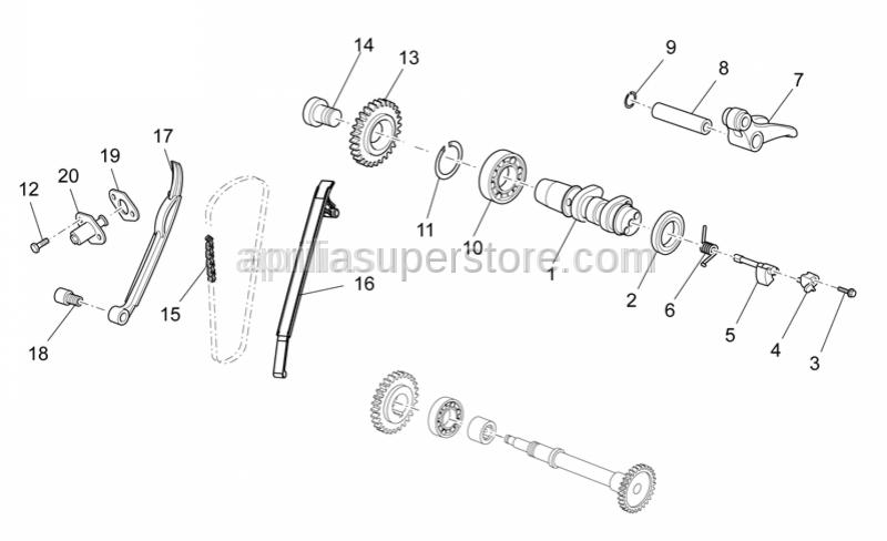 Aprilia - Rear valve control 5.85