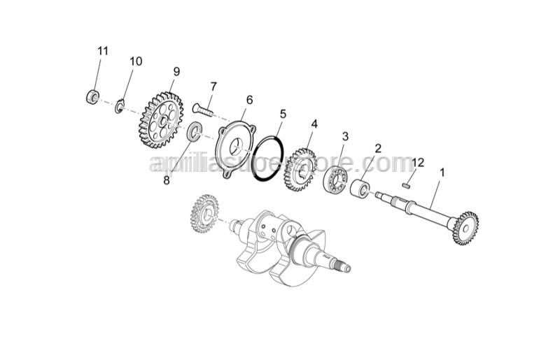 Aprilia - Nut M12x1x4,5