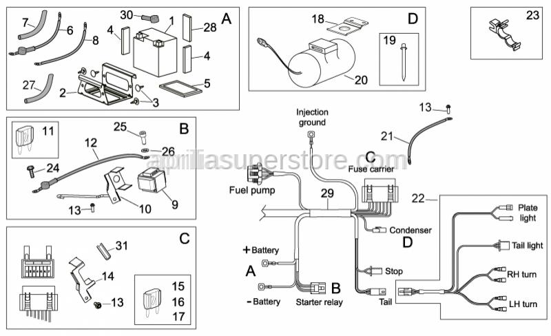 Aprilia - Rubber pipe 12,8x8,8 L=120